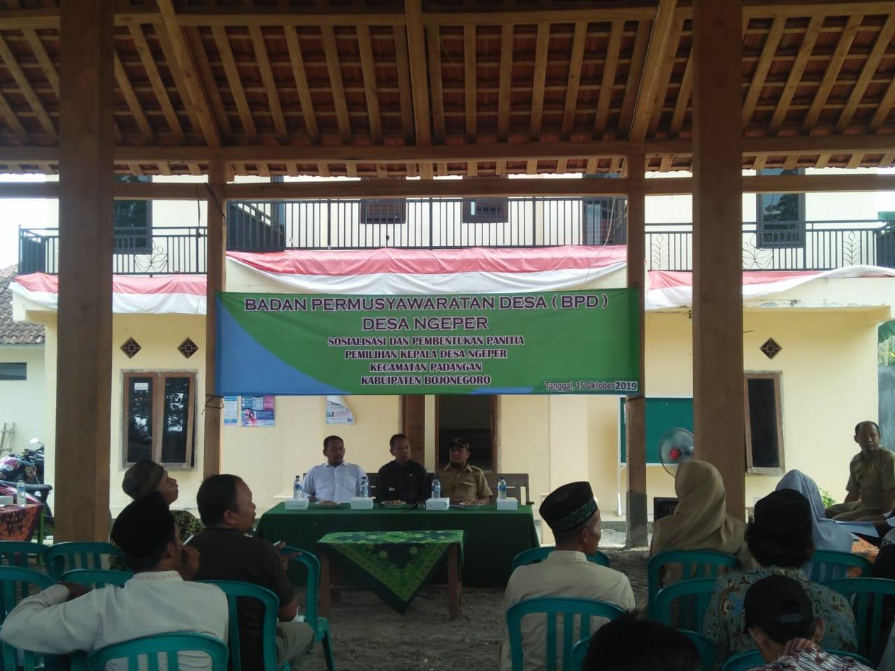 Musyawarah Pembentukan dan Pelantikan Panitia Pemilihan Kepala Desa<BR>Desa Ngeper Kecamata padangan